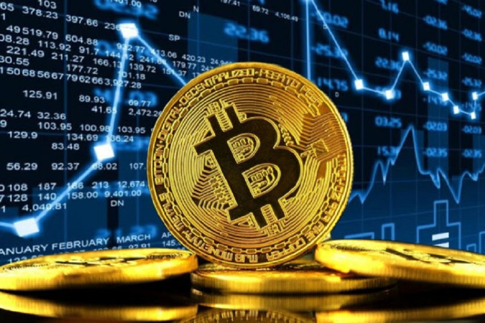 Bitcoins and Trading view Background