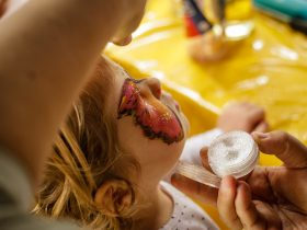 Child with Painting Face